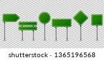 green traffic signs. blank... | Shutterstock . vector #1365196568