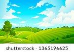 summer field landscape. nature...   Shutterstock . vector #1365196625