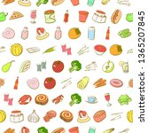 food images. background for... | Shutterstock .eps vector #1365207845
