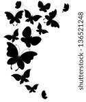 butterflies design | Shutterstock .eps vector #136521248