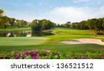 golf field summer landscape | Shutterstock . vector #136521512