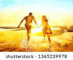 Watercolor Painting   Couple
