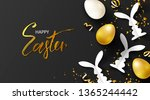happy easter sale banner... | Shutterstock .eps vector #1365244442