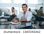 disabled person in the...   Shutterstock . vector #1365246362