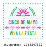 cinco de mayo. viva la fiesta.... | Shutterstock .eps vector #1365247832