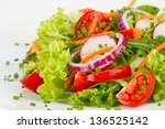 Dish With Fresh Salad