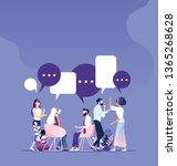 business teamwork meeting...   Shutterstock .eps vector #1365268628