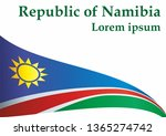 flag of namibia  republic of... | Shutterstock .eps vector #1365274742