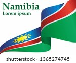 flag of namibia  republic of... | Shutterstock .eps vector #1365274745