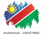 flag of namibia  republic of... | Shutterstock .eps vector #1365274802