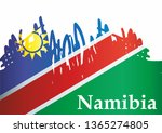 flag of namibia  republic of... | Shutterstock .eps vector #1365274805