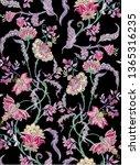 fantasy floral seamless pattern ... | Shutterstock .eps vector #1365316235