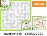 cartoon game puzzle with... | Shutterstock .eps vector #1365322232