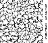 black and white succulents...   Shutterstock .eps vector #1365324005