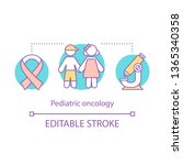 pediatric oncology concept icon.... | Shutterstock .eps vector #1365340358