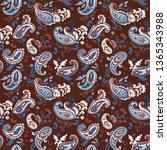 indian rug tribal ornament... | Shutterstock .eps vector #1365343988