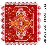 indian rug tribal ornament... | Shutterstock .eps vector #1365344012