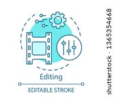 video editing concept icon.... | Shutterstock .eps vector #1365354668