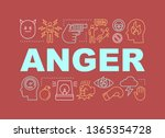 anger word concepts banner.... | Shutterstock .eps vector #1365354728