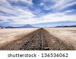 Railway In The Desert Near...