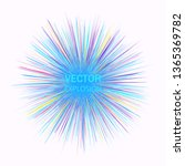 abstract colorful explosion... | Shutterstock .eps vector #1365369782