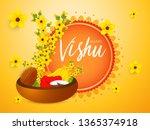 illustration of happy vishu... | Shutterstock .eps vector #1365374918