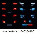 car headlights. dark... | Shutterstock .eps vector #1365386105