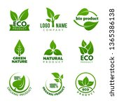 nature logo. herbal organic eco ... | Shutterstock .eps vector #1365386138