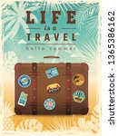travel retro poster. summer... | Shutterstock .eps vector #1365386162