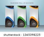 roll up banner  standing banner ... | Shutterstock .eps vector #1365398225