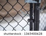 Chain Link Fence Chained Lock...