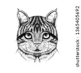 cat made with ink | Shutterstock . vector #1365405692
