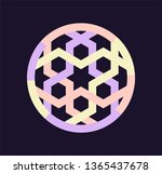 muslim patterns and logos.... | Shutterstock .eps vector #1365437678