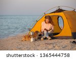 happy weekend by the sea  ... | Shutterstock . vector #1365444758