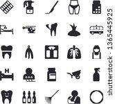 solid vector icon set   towel...   Shutterstock .eps vector #1365445925