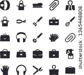 solid vector icon set   apron...   Shutterstock .eps vector #1365448808