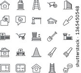 thin line icon set   barrier...   Shutterstock .eps vector #1365450548