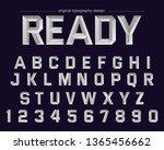 iron metal typography design...   Shutterstock .eps vector #1365456662