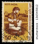 Small photo of INDIA - CIRCA 1975: A stamp printed in India shows poet Ameer Khusrau, circa 1975