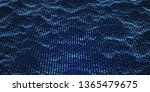 blue wavy particle dots surface ... | Shutterstock .eps vector #1365479675