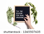 This styled stock photo features a classic letter board with a fun motivational quote perfect for your creative business or blog! Greenery and a little touch of human bring this image together.