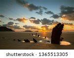 Wreck of Helvetia, Rhossili Bay, Gower, Wales, UK