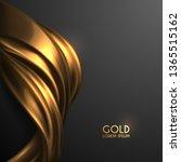 golden silk on black background | Shutterstock .eps vector #1365515162