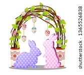 easter decor in the form of... | Shutterstock .eps vector #1365526838