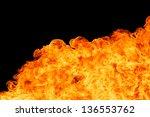 blaze fire flame texture... | Shutterstock . vector #136553762