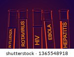 test tubes over blue background | Shutterstock . vector #1365548918
