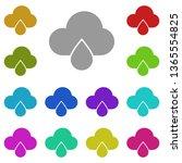 cloud drop multi color icon....