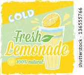 lemonade vintage label | Shutterstock .eps vector #136555766