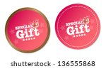 special gift stickers   Shutterstock .eps vector #136555868