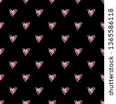 seamless pattern with pink hand ... | Shutterstock .eps vector #1365586118
